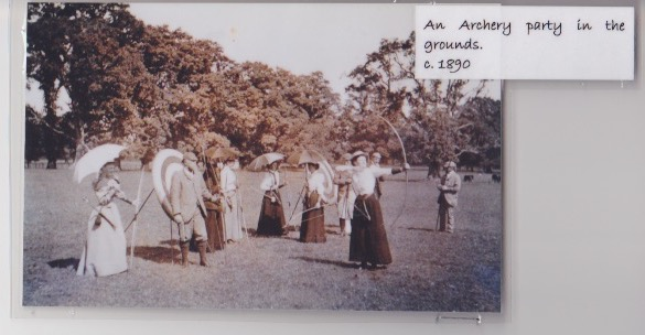 archery at glasbury house 1890