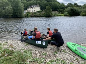 canoeing at Glasbury