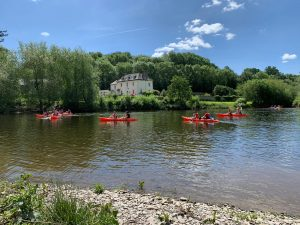 Kayaking at Glasbury